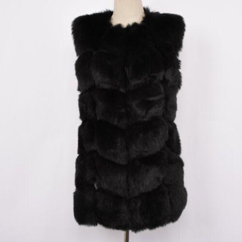 Women Faux Fur Vest Fashion Top Quality Fur Gilet Autumn Winter Waistcoat 78403