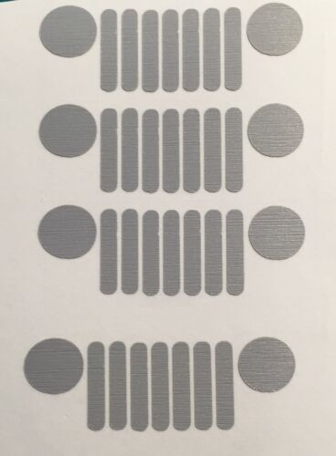 4x JEEP Renegade Speaker logo Decal Sticker 3M Scotchprint 1080 USA