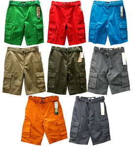 8fa0840132 NWT MEN SOUTHPOLE 8 DIFFERENT COLORS OF SOLID CARGO SHORTS | eBay