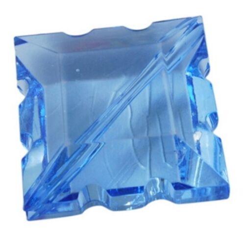 JOBLOT 560 Rombo Facetas Espaciador oro 16mm azul transparente de acrílico