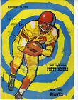 1960 NFL Football Program San Francisco 49ers vs  New York Giants