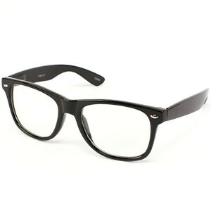 Black Frame Fake Glasses : Nerd Geek Retro Clark Kent Clear Lens Buddy Eye Glasses ...
