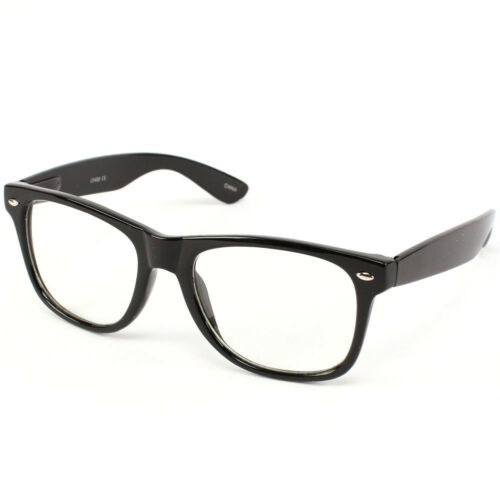 4d4e45db48b Nerd Geek Retro Clark Kent Clear Lens Buddy Eye Glasses Black Frame
