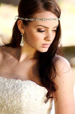Bridal Crystal Headband Headpiece Gown Belt Sash Ribbon