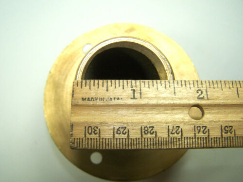 """1-1//2/"""" Bronze Transom Mount Exhaust Pipe Thru-Hull Fitting MPT Thread"""