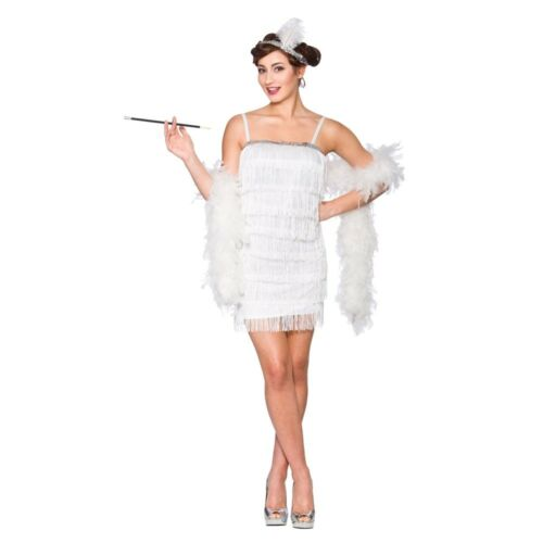 Showtime Flapper Girl 20/'s 1920s Charleston Womens Adult Fancy Dress Costume