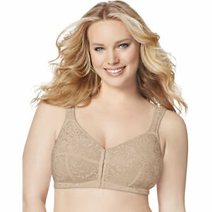7a58040714 Just My Size 1107 Front Close Wirefree Bra 44 DD Nude 44dd