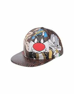 825 MOSCHINO Couture x Jeremy Scott Looney Tunes SnapBack LEATHER ... 954f3837461