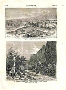 Route du Mont Ventoux Observatoire/ Aqueduc Fontaines de Carpentras GRAVURE 1882 - France - ROUTE DU MONT VENTOUX OBSERVATORY / AQUEDUCT FOUNTAINS OF CARPENTRAS France ANTIQUE PRINTGRAVURE 100 % DÉPOQUE 1882 PORT GRATUIT EUROPE A PARTIR DE 4 OBJETS BUY 4 ITEMS AND EUROPE SHIPPING IS FREE Il s'agit d'un fragment de page originale avec t - France