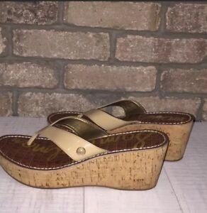 Sam-Edelman-leather-strap-platform-sandal-Woman-size-9