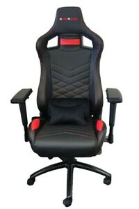 Everracer Gaming Chair Black Red Office Computer Racing Pu Leather Er0078 Ebay