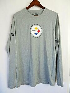 f265e984fa84 Image is loading Under-Armour-Mens-NFL-Pittsburgh-Steelers-Long-Sleeve-