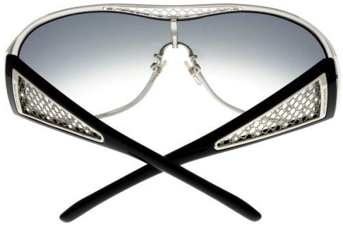Mont Blanc Sunglasses Women Gunmetal Shield MB223S F90