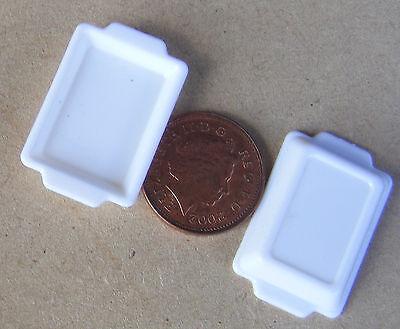 1:12 Scala 2 Vaschette Per Alimenti In Plastica Bianca Tumdee Casa Delle Bambole Accessorio Da Cucina H&w-mostra Il Titolo Originale Asciugare Senza Stirare