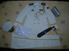 Obsolete 07's series China PLA Navy Man Officer Full Dress,White,Set