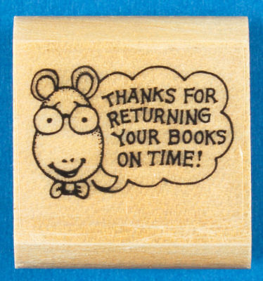 Teachers Wood Mounted Rubber Stamp Please Correct and Return Frog