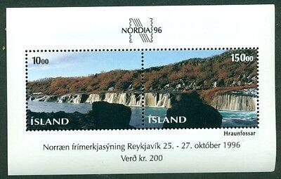 ICELAND #810 Souvenir sheet, og, NH, VF, Scott $11.00