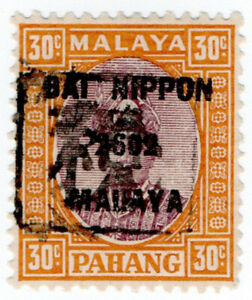 I-B-Malaya-States-Revenue-Pahang-30c-Japanese-Occupation