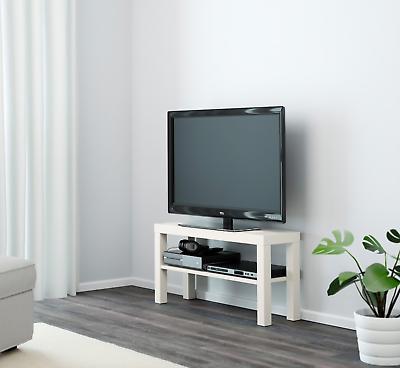 Ikea Lack Banc Tv Blanc Meuble Tv Pour Plasma Lcd Tv Del Ebay