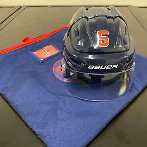 WINNIPEG JETS NHL 2019 HERITAGE CLASSIC GAME ISSUED HOCKEY HELMET LUCA SBISA 5