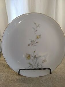 Symphony-Fine-China-12-Inch-Serving-Platter-Round-Rare-Vintage-Rim-trimmed-gold