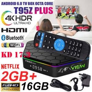 T95Q TV Box  Video Bluetooth 4.1 Media PlayerQuad core 4+32//64GB Android 8.1 3D