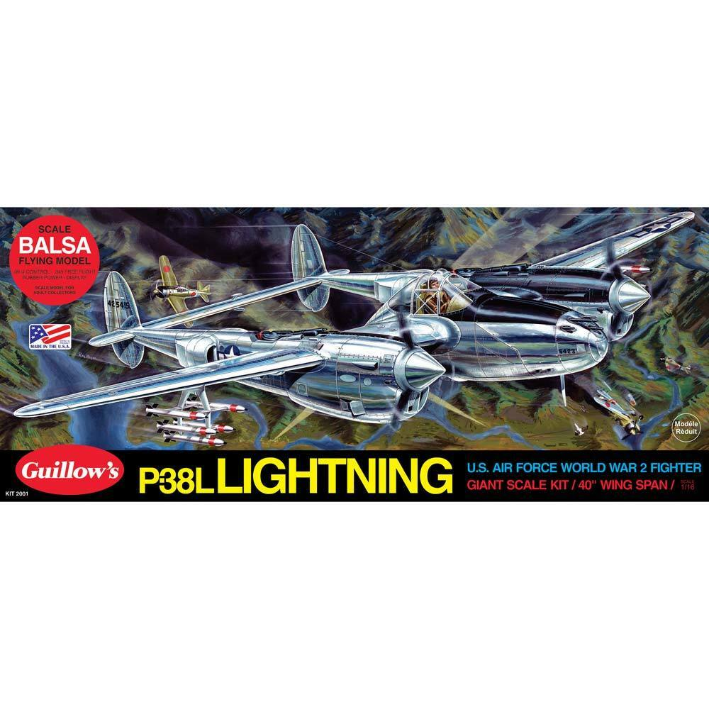 Guillow s Giant Scale WWWII Model P-38 Lightning 2001