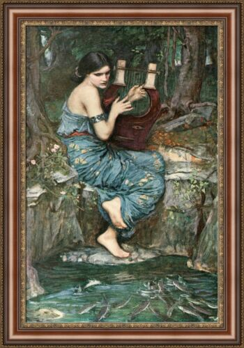 "V04-21 John William Waterhouse The Charmer Framed Canvas Giclee Print 27/""x39/"""