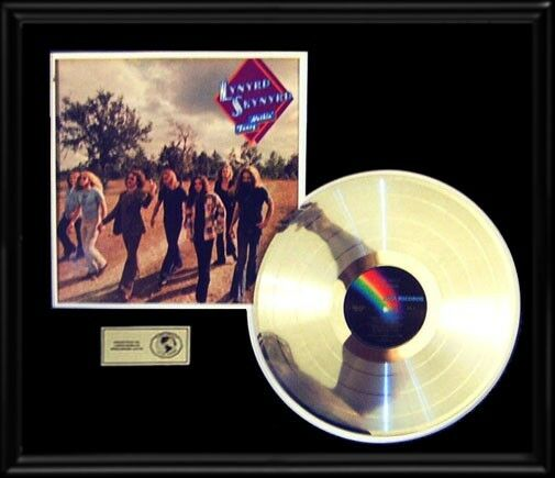 LYNYRD SKYNYRD NOTHING FANCY RARE LP GOLD RECORD PLATINUM  DISC ALBUM