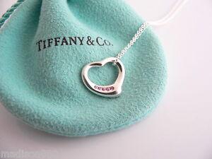 969592e27 Tiffany & Co Peretti Silver 5 Pink Sapphires Open Heart Necklace ...