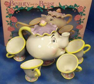 Disney Beauty And The Beast Mrs Potts And Chip Tea Set