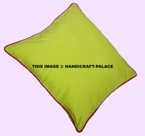 2 PC 100/% Cotton Plain Cotton Indian Cushion Covers Square Rectangular Washable