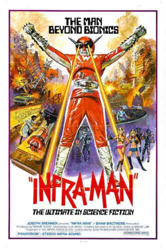 1975 INFRA-MAN VINTAGE ACTION SCIENCE FICTION MOVIE POSTER PRINT 54x36 BIG 9 MIL