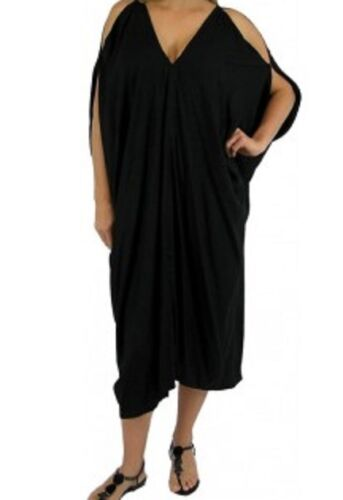 COMFY CASUAL WEAR DRESS NWT SZ 10-18 LADIES TOGA DRESS IN WHITE OR BLACK