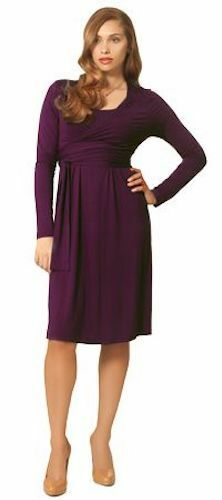 Infermieristica Nursing manica Purple Wrap il Nwt Dress per Maternity Xl lunga latte Womens rWc68BrwqZ