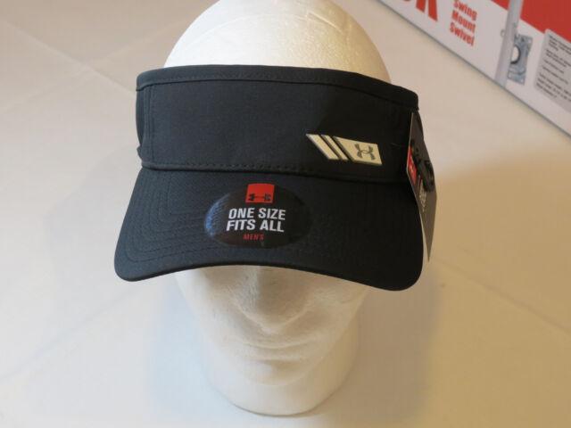 c1bc5f5a2f5 Mens Under Armour UA Heat Gear Golf Sun Visor Cap hat 1273277 black 001 One  Size