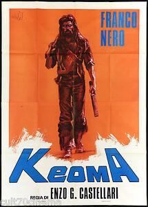 KEOMA MANIFESTO CINEMA FILM WESTERN FRANCO NERO CASTELLARI 1976 MOVIE POSTER 4F - Italia - KEOMA MANIFESTO CINEMA FILM WESTERN FRANCO NERO CASTELLARI 1976 MOVIE POSTER 4F - Italia