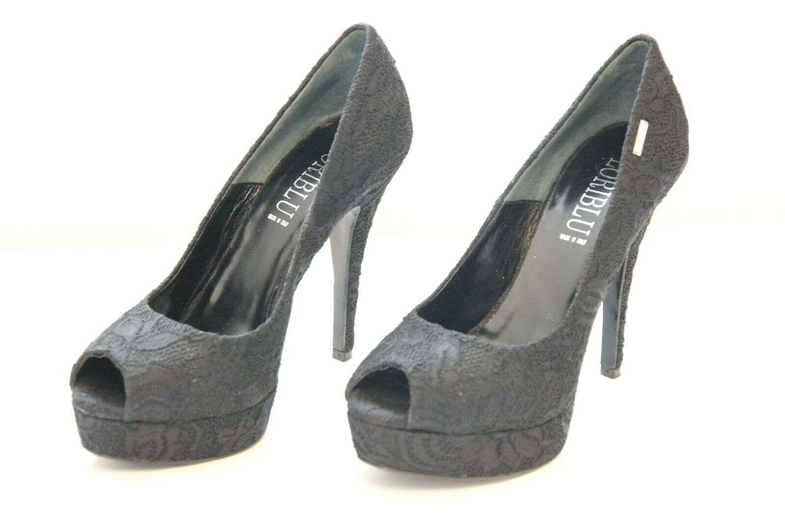 LORIblue Pumps Women's Platform Heel Italian shoes Vero Cuoio 38 Made in