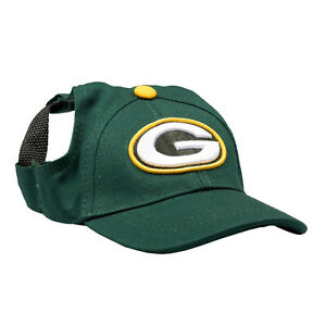 Green-Bay-Packers-NFL-Licensed-LEP-Dog-Pet-Baseball-Cap-Hat-Green-Sizes-S-XL