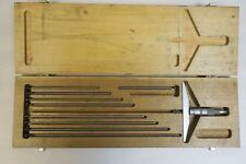 Scherr Tumico Depth Gauge Gage Micrometer 5 Base 0 10 No Wrench