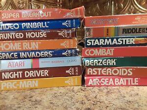 Atari-2600-CIB-Complete-15-Game-Lot-WORKING-Donkey-Kong-Space-Invaders-Berzerk