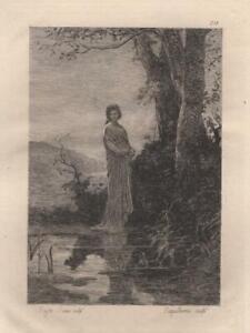 Augustin-Feyen-Perrin-Melancolie-Eau-Forte-ancienne-Laguillermie-XIXe