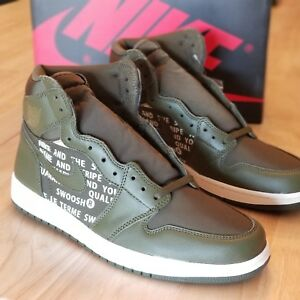 88ce31cec45262 Nike Air Jordan 1 Retro High OG - Olive Canvas Sail - 555088-300 ...