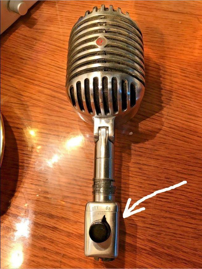 Micrófono Vintage Vintage Vintage SHURE on-off interruptor de botón-Modelo A84A 2470b0