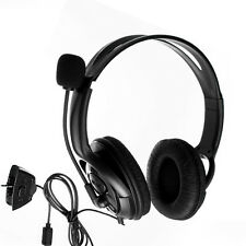 Big Gaming Headset Headphone w/Mic For Xbox 360 Wireless Live Controller Black