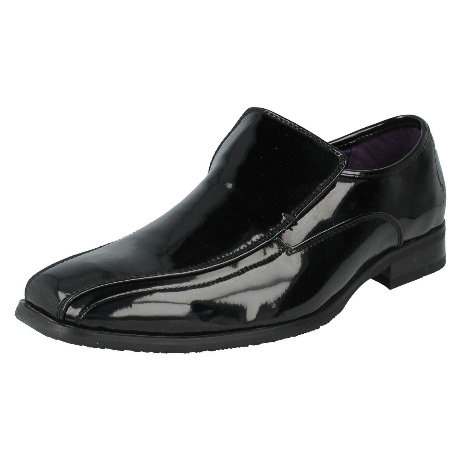 OFERTA COSTABA Ahora Hombre Charol Negro Sin Cordones Zapatos de MAVERICK a1094