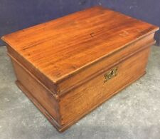 Nice Victorian Antique Wooden Jewellery / Table Box with Lined Interior + Shelf