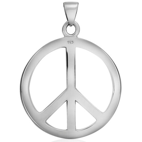 VY Jewelry for Gift Details about  /925 Sterling Silver Huge Peace Pendant