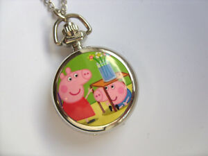 Great-PEPPA-PIG-Coloured-Necklace-Watch