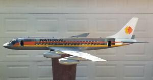 "RARE HUGE NATIONAL AIRLINES DC8 CUTAWAY TRAVEL AGENCY DISPLAY AIRPLANE MODEL 84"""